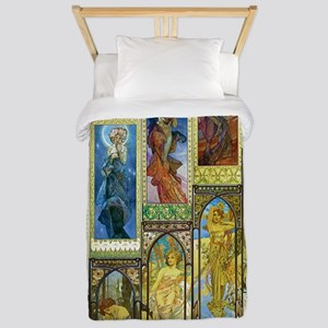 Mucha's Night and Day Twin Duvet