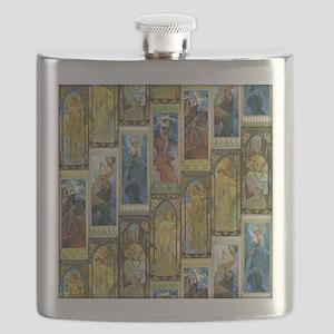 Mucha's Night and Day Flask