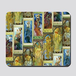 Mucha's Night and Day Mousepad