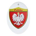 Poland Metallic Shield Ornament (Oval)