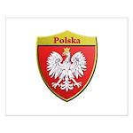 Poland Metallic Shield Posters