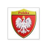 Poland Metallic Shield Sticker