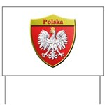 Poland Metallic Shield Yard Sign