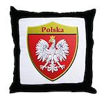 Poland Metallic Shield Throw Pillow