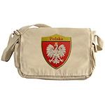 Poland Metallic Shield Messenger Bag
