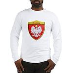 Poland Metallic Shield Long Sleeve T-Shirt