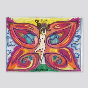 Butterfly Lady 5'x7'Area Rug
