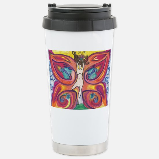 Butterfly Lady Stainless Steel Travel Mug