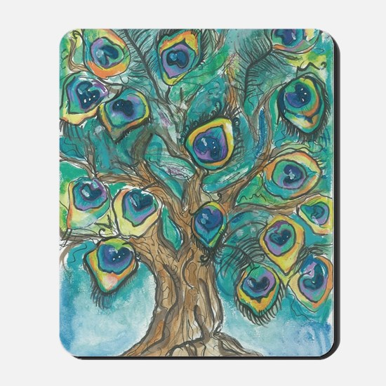 Peacock Tree Mousepad