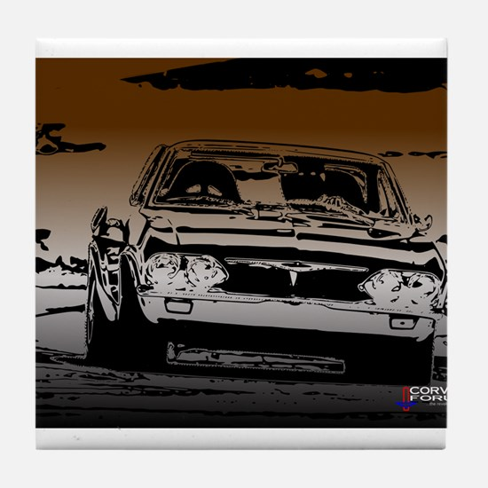 Late Model Corvair Tile Coaster