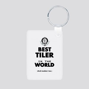The Best in the World Tiler Keychains
