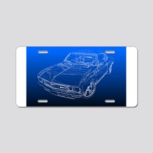Late Model Corvair Aluminum License Plate