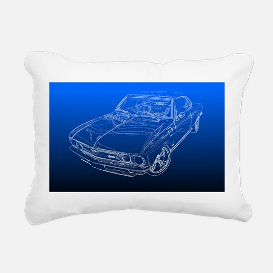 Late Model Corvair Rectangular Canvas Pillow