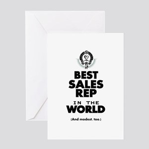 The Best in the World Sales Rep Greeting Cards