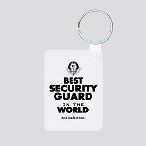 The Best in the World Security Guard Keychains