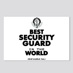 The Best in the World Security Guard Postcards (Pa