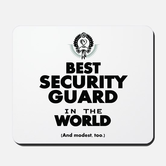 The Best in the World Security Guard Mousepad