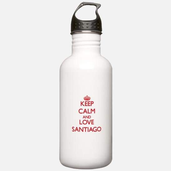 Keep calm and love Santiago Water Bottle