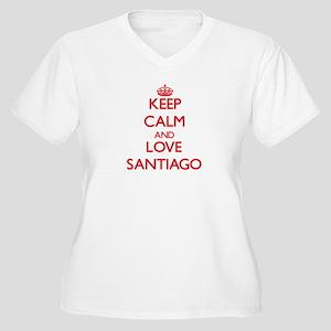 Keep calm and love Santiago Plus Size T-Shirt