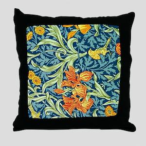 William Morris design: Iris floral pa Throw Pillow