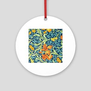 William Morris design: Iris floral  Round Ornament