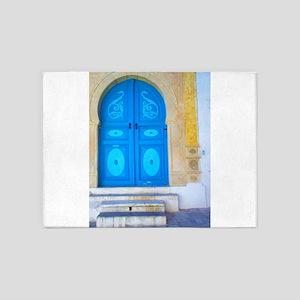 Blue door 5'x7'Area Rug