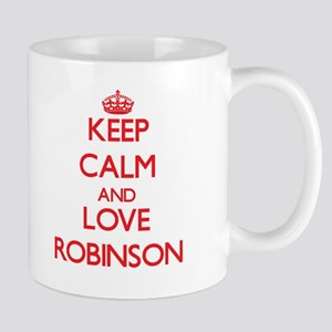 Keep calm and love Robinson Mugs