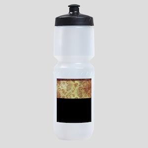 Vintage texture Sports Bottle