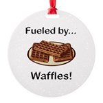 Fueled by Waffles Round Ornament