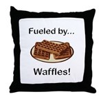Fueled by Waffles Throw Pillow