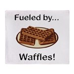 Fueled by Waffles Throw Blanket