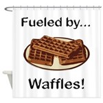 Fueled by Waffles Shower Curtain