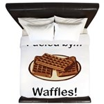 Fueled by Waffles King Duvet
