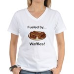 Fueled by Waffles Women's V-Neck T-Shirt
