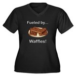 Fueled by Waffles Women's Plus Size V-Neck Dark T-