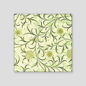 """William Morris design: Scro Square Sticker 3"""" x 3"""""""