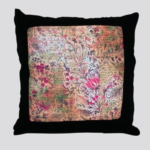 Old paper texture Throw Pillow