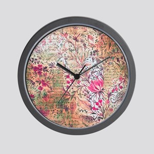 Old paper texture Wall Clock