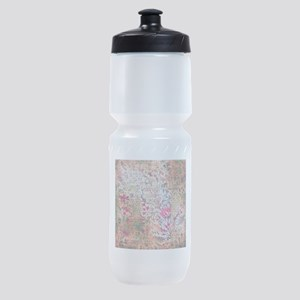Old paper texture Sports Bottle