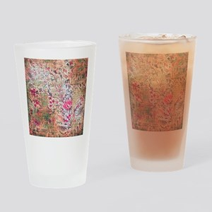 Old paper texture Drinking Glass
