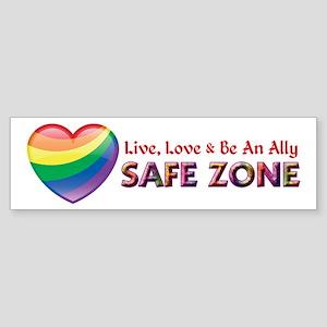 Safe Zone - Ally Bumper Sticker