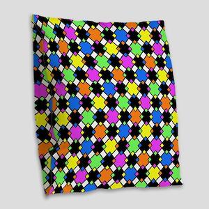 Bright Diamond modern pattern Burlap Throw Pillow