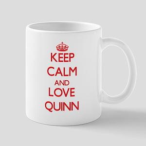 Keep calm and love Quinn Mugs