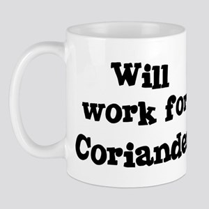 Will work for Coriander Mug