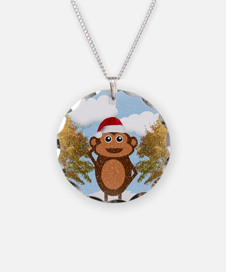 Christmas Monkey Necklace
