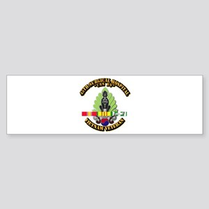 Army - 45th Surgical Hospital w SVC Ribbon Sticker