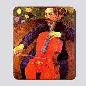 Gauguin: The Cellist, Paul Cezanne portr Mousepad