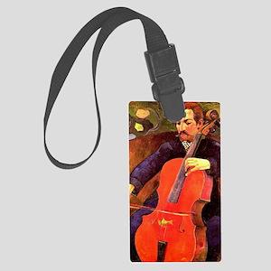 Gauguin: The Cellist, Paul Cezan Large Luggage Tag