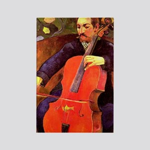 Gauguin: The Cellist, Paul Cezann Rectangle Magnet