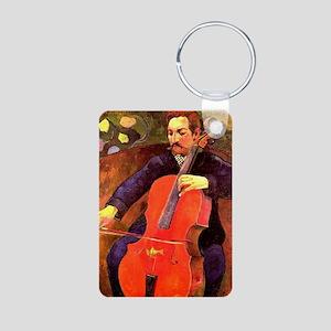 Gauguin: The Cellist, Paul Aluminum Photo Keychain